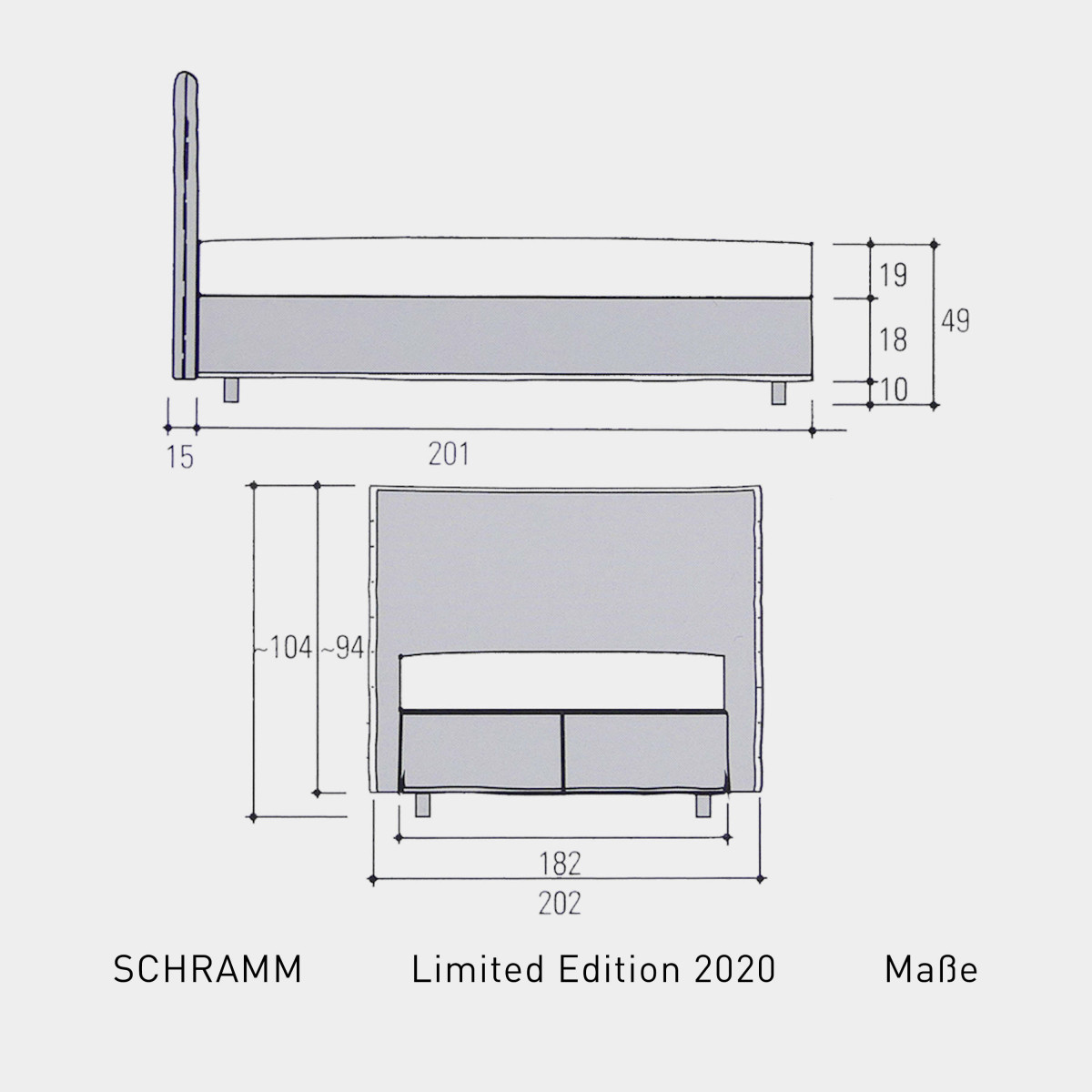 Schramm Limited Edition 2020 - Maße