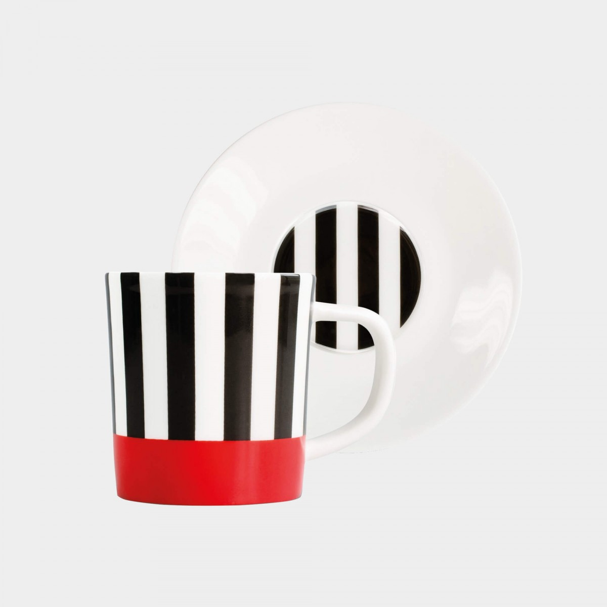 Remember Black Stripes Espressotasse inkl. Unterteller