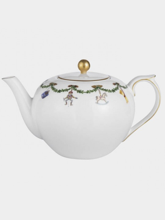Royal Copenhagen Star fluted Christmas Teekanne